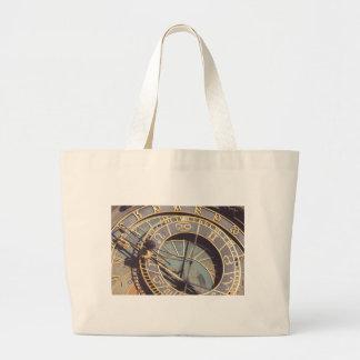Prague Astronomical Clock Large Tote Bag