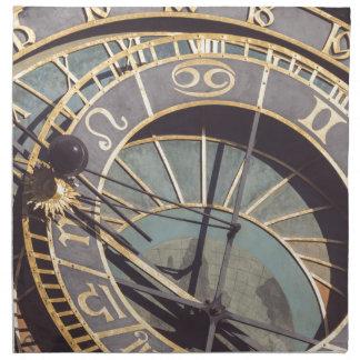 Prague Astronomical Clock Napkin
