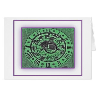 Prague Astronomical Clock - Neon Card