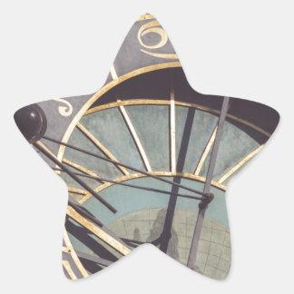 Prague Astronomical Clock Star Sticker