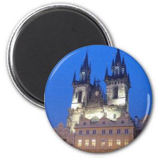 Prague by night magnet
