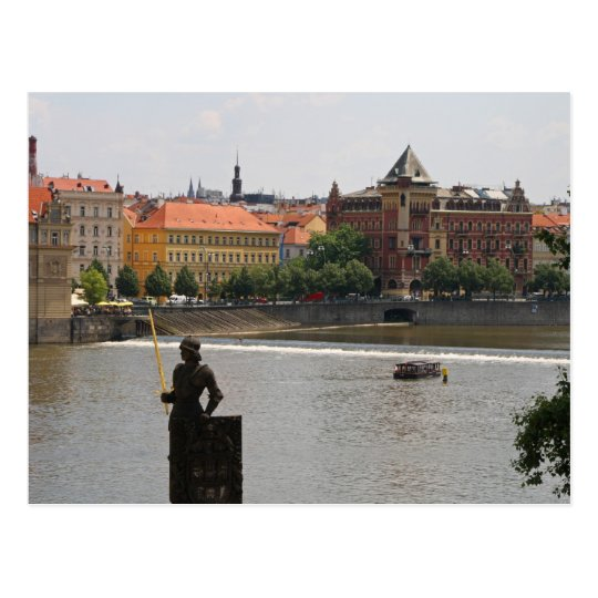 Prague by the Moldava River Postcard