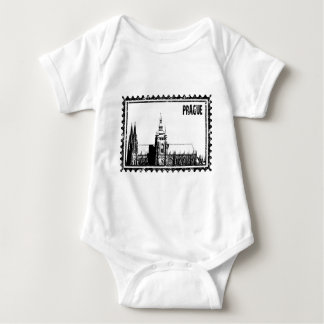 Prague castle baby bodysuit