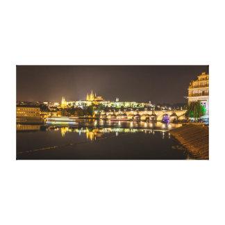 Prague - Castle & Charles Bridge Canvas Print
