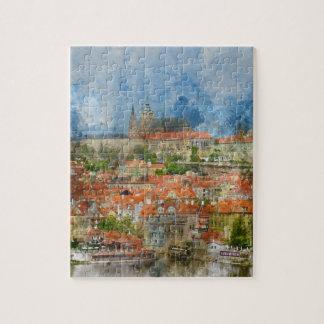 Prague Castle in Czech Republic Jigsaw Puzzle