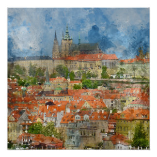 Prague Castle in Czech Republic Perfect Poster