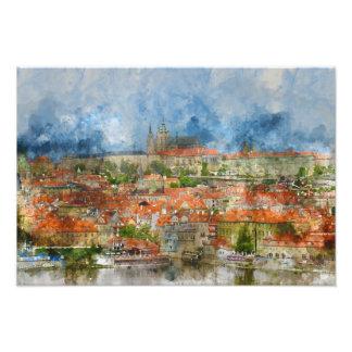 Prague Castle in Czech Republic Photo Art