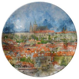 Prague Castle in Czech Republic Plate