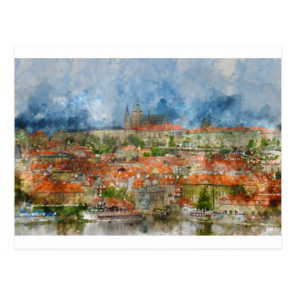 Prague Castle in Czech Republic Postcard