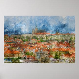 Prague Castle in Czech Republic Poster