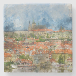 Prague Castle in Czech Republic Stone Coaster