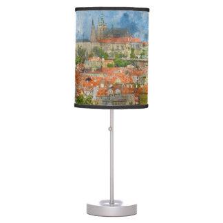 Prague Castle in Czech Republic Table Lamp