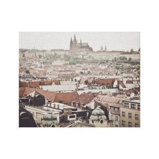 Prague Castle in the city of Prague Czech Republic Canvas Print