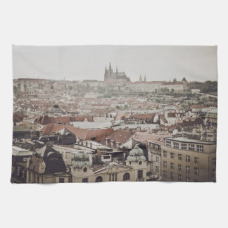 Prague Castle in the city of Prague Czech Republic Hand Towels