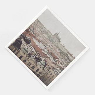 Prague Castle in the Czech Republic Paper Napkins