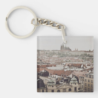 Prague Castle in the Czech Republic Single-Sided Square Acrylic Keychain