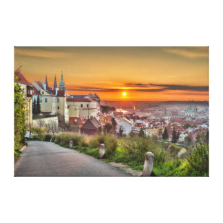 Prague Castle Morning Canvas