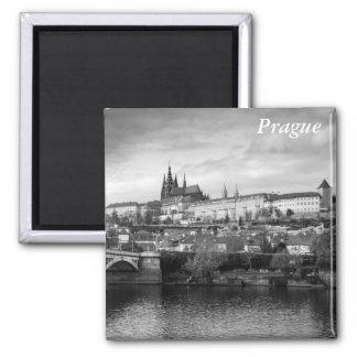 Prague Castle Square Magnet
