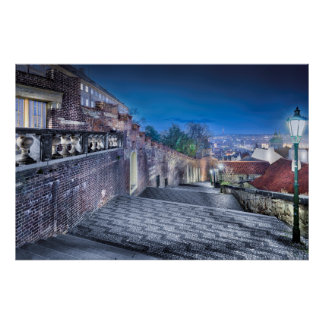 Prague Castle Stairs Poster