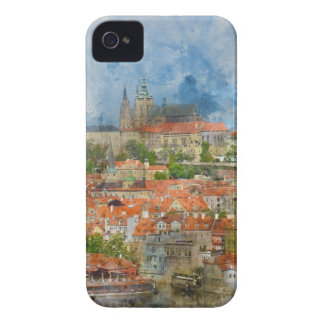 Prague Castle with famous Charles Bridge in Czech iPhone 4 Covers