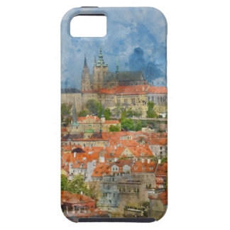Prague Castle with famous Charles Bridge in Czech iPhone 5 Case