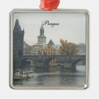 Prague Charles Bridge Square Ornament