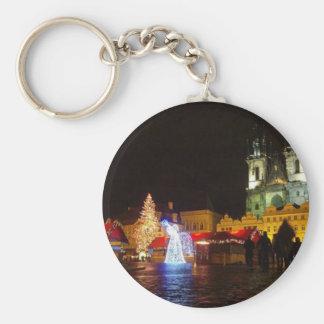 Prague Christmas Night Keychain Czech Gift