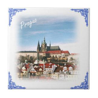 Prague city Czech republic tile