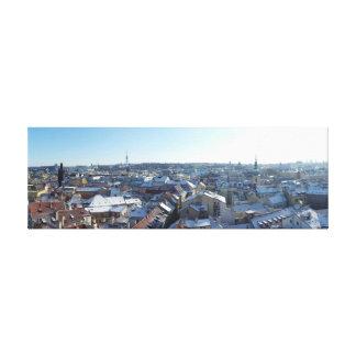 Prague City Skyline Canvas Print