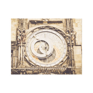Prague, Czech Republic astronomical clock Canvas Print