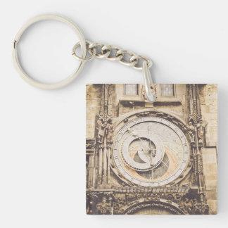 Prague, Czech Republic astronomical clock Keychain