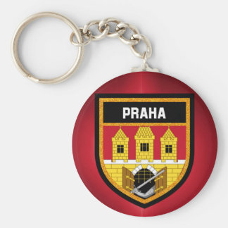 Prague  Flag Keychain