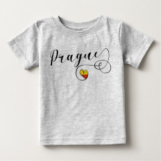 Prague Heart Tee Shirt, Czech Republic