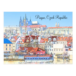 Prague in Pastel Post Card