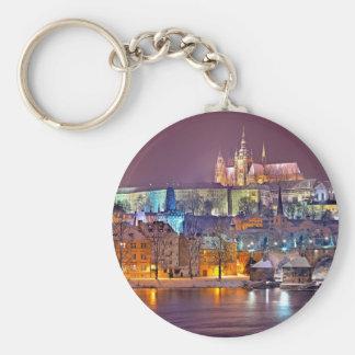 Prague in Winter Keychain