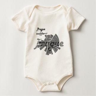 Prague Map Baby Bodysuit