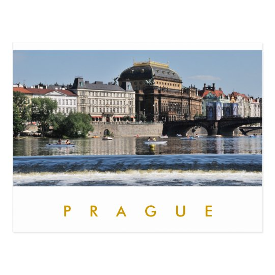 Prague – National Theatre Postcard