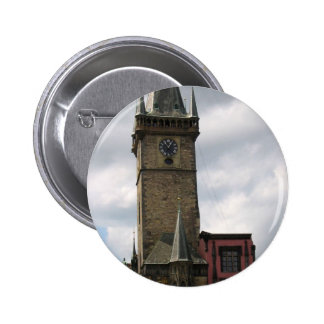 Prague Old City Hall 2 Inch Round Button
