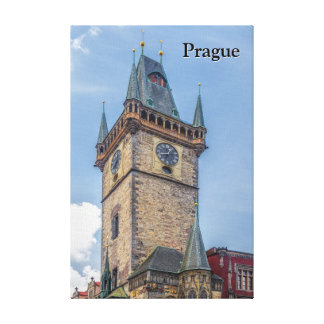 Prague Old Town Hall Czech Republic Canvas Print