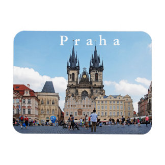 Prague. Old Town Square and Tyn Church. Magnet