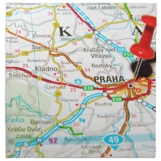 Prague, Praha in Czech Republic Napkin