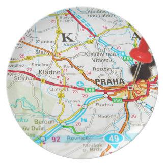 Prague, Praha in Czech Republic Plate
