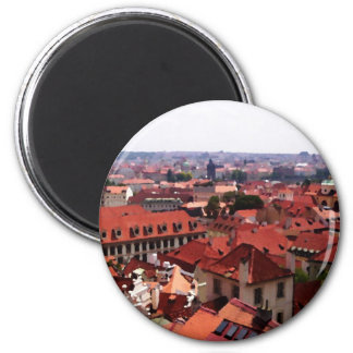 Prague Red Roofs Magnet