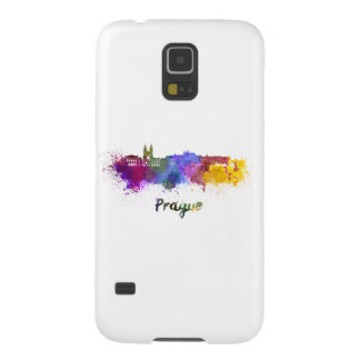 Prague skyline in watercolor galaxy s5 covers
