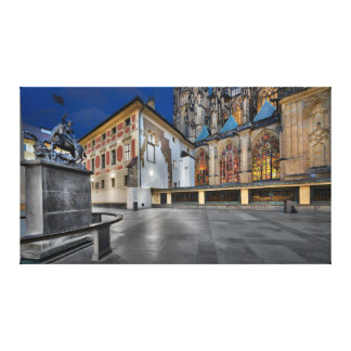 Prague - St.Vitus Cathedral at Night Canvas Print