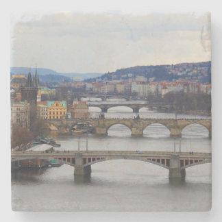 Prague Stone Beverage Coaster