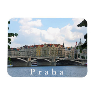 Prague. View of the embankment of the Vltava River Magnet