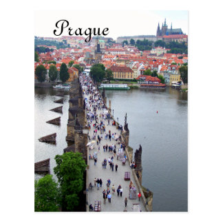 Prague View Postcard