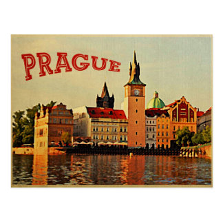 Prague Vintage Travel Postcard