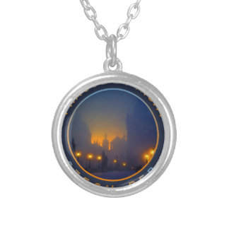 Praha by Night Silver Plated Necklace